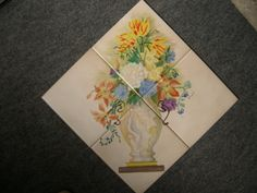 ... China painted and fired on to ceramic tile