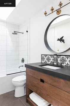 8 Competent Tips: Bathroom Remodel Ideas Pictures bathroom remodel wainscotting bathtubs.Half Bathroom Remodel Benches old bathroom remodel grey. Bathroom Trends, Bathroom Renovations, White Bathroom, Small Bathroom, Master Bathroom, Black Bathrooms, 1950s Bathroom, Bathroom Kids, Bathroom Towels