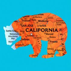 Fab.com | Urban Legends: California - StyleSays    That awkward moment when your town is so small it's not even on the CA map... :/