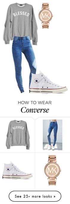 """Untitled #1"" by kameron-savell on Polyvore featuring Private Party, Bullhead Denim Co., Converse and Michael Kors"