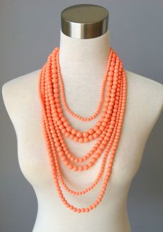 None Quite Like You Necklace-Coral