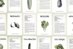 "Set of Postcards — Recipes from ""Las verduras de muchas maneras"""