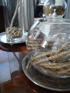 WINTER ReSTYLE | Homegoods Glass Globe | #Homegoods #HappyByDesign