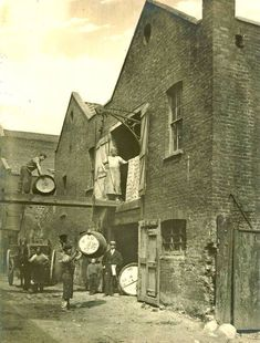 Alfred Hunt's Bone Works Upper Fore Street Lambeth London for the making of bone handles ect Victorian London, Victorian Photos, Vintage London, Old London, London 1800, Victorian History, Victorian Life, Tudor History, London Pictures