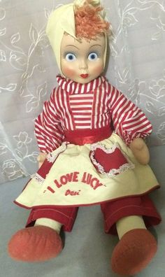 Vintage I Love Lucy Desi Rag Cloth Doll Lucille Ball Character 1953 Nice   ...Please save this pin.  Because for vintage collectibles - Click on the following link!.. http://www.ebay.com/usr/prestige_online