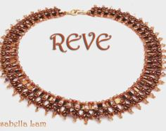REVE SuperDuo Beadwork Necklace Pdf tutorial instructions for personal use only