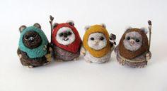 Woooooow!!!! So need to make some of these! Needle felted Ewok by HandmadeByNovember on Etsy