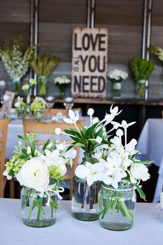 """Love is all you Need"" Wedding Reception Flowers | Hello Blossoms | Wedding Florist Mornington Peninsula, Victoria"