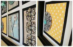 Two Girls Being Crafty: Frame your own artwork
