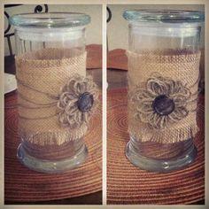 Cute idea to reuse a jewelscent candle jar