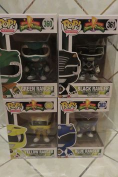 Funko POP! TV MIGHTY MORPHIN' POWER RANGERS SET Blue, Yellow, Green & Black…