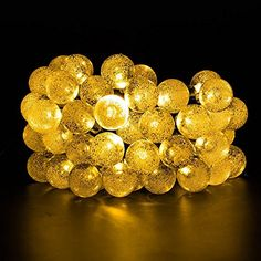 KCRIUSTM Outdoor Solar String Lights Fairy Lights Crystal Ball Solar Powered Outdoor Decorations Ambiance Lighting For for Garden Fence Path Landscape Christmas warm white * To view further for this item, visit the image link.