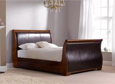 For a bedroom of great grandeur our Bruges sleigh styled bed frame will add resplendence to your bedroom.