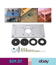 Ujk technology 6mm aluminium router table insert plate router power tools aluminum router table insert plate w 4 rings screws for woodworking benches keyboard keysfo Images
