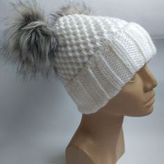 Čepice bílá Winter Hats, Shopping, Fashion, Moda, Fashion Styles, Fasion
