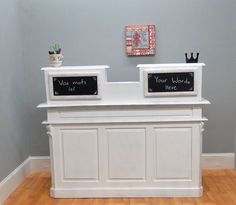 STORE COUNTER Antique FRENCH old restaurant desk reception cottage chic shabby #TheKingsBay #FrenchCountry