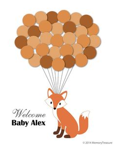 Hey, I found this really awesome Etsy listing at https://www.etsy.com/listing/204889787/baby-shower-guest-book-alternative-fox