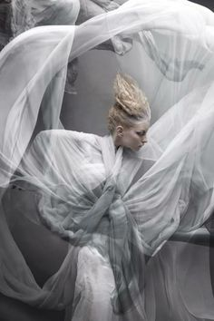 Fashion photography white movement