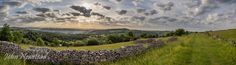 https://flic.kr/p/vjZGdb | Middleton Moor | Middleton Moor, Derbyshire at 6.45am 5th July 2015.  Panoramic image comprising nine shots, stitched and edited in Lightroom 5.  ©John Newstead