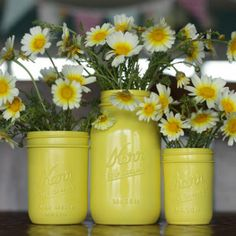 DIY Spray Paint Mason Jars @Heather Creswell Haines  This is what I was talking about.