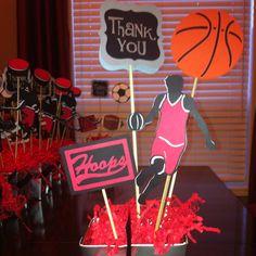 Basketball Centrepiece using Cricut Sports Mania.