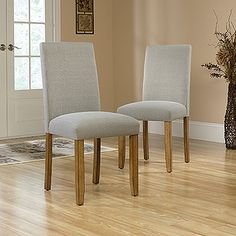 Parsons Chair set of 2 - Cannery Bridge So comfy! We could stand to take a load off after a long day on one of these!