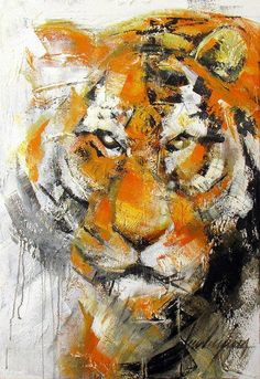 """Tigre - Movimento/ Tiger - Movement""  Acrylic on canvas. 100 x 70cm (39,3""x27,5""). 2008 © Luis Levy Lima"