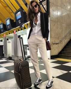 Touch down! Izabel excitedly shared her travels on social media saying: 'Fasten your seat belt !! Next stop ... Rio 2016 Olympics games!! Próxima parada ... Olimpíadas Rio 2016!!'