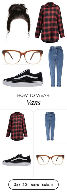 """Untitled #14437"" by iamdreamchaser on Polyvore featuring Miss Selfridge, Vans and Madewell"