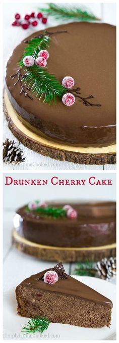 Rum soaked cherries, chocolate buttercream, and crumbled chocolate cake, all combined into the most luxurious holiday cake.