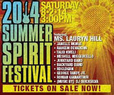 2014 Summer Spirit Festival at Merriweather Post Pavilion (Columbia, MD), Saturday, August 2nd; show starts at 3:00pm #cuzeventsrock #musiclovers #livemusic