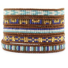 Chan Luu - Turquoise Beaded Wrap Bracelet on Natural Brown Leather, $195.00 (http://www.chanluu.com/bracelets/turquoise-beaded-wrap-bracelet-on-natural-brown-leather/)