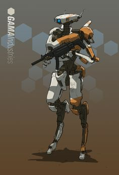 Personal Defence Droid, Gavin Manners on ArtStation at https://www.artstation.com/artwork/L8DZr