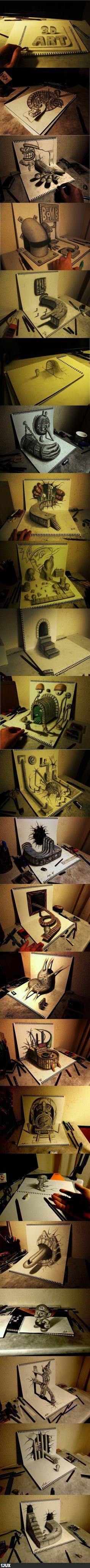 Unglaubliche 3D Kunst
