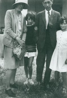 Virginia and Leonard Woolf with their niece Angelica Bell and the daughter of a friend.