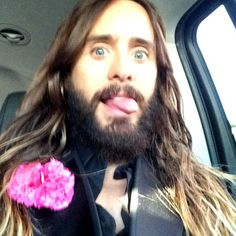 #JaredLeto #Hair #Beard #LongHair #Jared #Leto