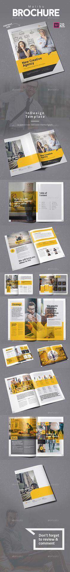 Malibu #Brochure - #Corporate Brochures Download here:  https://graphicriver.net/item/malibu-brochure/20370462?ref=alena994