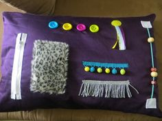 Busy Hands Activity Pillow Cover for van aPinchOfThread op Etsy
