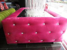 Pink tables for living room