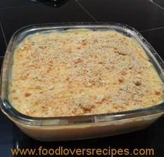 Easy Tart Recipes, Custard Recipes, Sweet Recipes, Baking Recipes, Cake Recipes, Dessert Recipes, Best Carrot Cake Ever Recipe, Kos, Malva Pudding