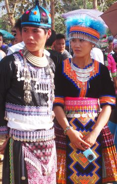 My friend who is from a very traditional Hmong family told me that the Hmong New Year is a party that is celebrated for 3 days. They buy new but traditional Hmong clothes and wish for good luck for the new year! I can't get over the brightness in colors they wear and how peaceful and thankful the Hmong people are.