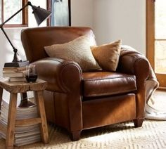 ethan allen leather chair google search