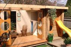 Image result for modern shed playhouse #buildplayhouses #outdoorplayhouseideas