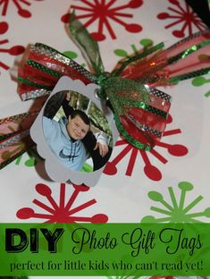Learn how to make DIY Photo Gift Tags in this step by step tutorial - perfect…