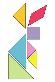 Sometimes I think I'm the only one who remembers these from Elementary School. I LOVED doing them...and still do - I have a Tangram a Day desk calendar this year, and an app on my phone, too :o)