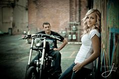 Downtown Boise Idaho Engagement Photos Motorcycle Freak Alley