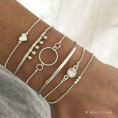 The sterling silver bracelets have actually been preferred among women. These bracelets are offered in various shapes, sizes and styles. Clean Sterling Silver, Sterling Silver Bracelets, Beaded Bracelets, Charm Bracelets, Sterling Silver Cuff Bracelet, Bangle, Cute Jewelry, Boho Jewelry, Jewelery