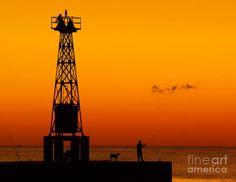 Pentwater Pier Sunset Fine Art Print