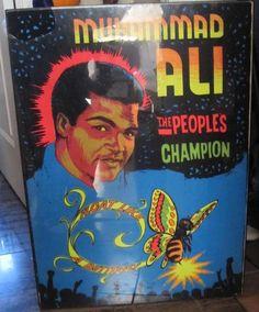 MUHAMMAD ALI VINTAGE  BLACKLIGHT POSTER VELVET MATERIAL 1970s VERY RARE BOXING Black Light Posters, Velvet Material, Muhammad Ali, Boxing, 1970s, The Originals, Painting, Vintage, Ebay