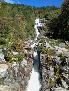 Silver Cascades in Crawford Notch, New Hampshire, courtesy Milton J Figueroa. #waterfall